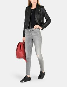 ARMANI EXCHANGE LUXE LEATHER MOTO JACKET Lederwaren Damen a