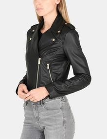 ARMANI EXCHANGE LUXE LEATHER MOTO JACKET Lederwaren Damen d