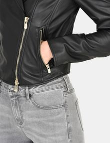 ARMANI EXCHANGE LUXE LEATHER MOTO JACKET Lederwaren Damen e