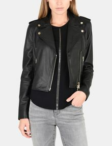 ARMANI EXCHANGE LUXE LEATHER MOTO JACKET Lederwaren Damen f