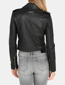 ARMANI EXCHANGE LUXE LEATHER MOTO JACKET Lederwaren Damen r
