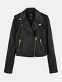 ARMANI EXCHANGE LUXE LEATHER MOTO JACKET Lederwaren Damen b