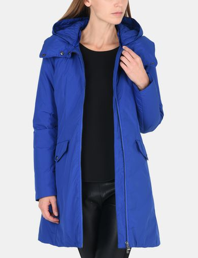 FUNNELNECK HOODED PUFFER COAT