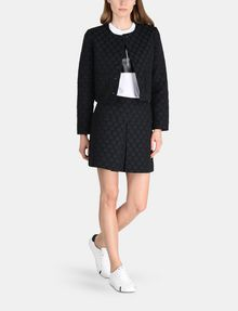 ARMANI EXCHANGE DOT JACQUARD COLLARLESS JACKET Jacket Woman a
