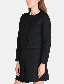 ARMANI EXCHANGE DOT JACQUARD COLLARLESS JACKET Jacket Woman d