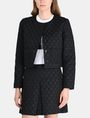 ARMANI EXCHANGE DOT JACQUARD COLLARLESS JACKET Jacket Woman f
