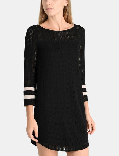 OPEN-KNIT TEE DRESS
