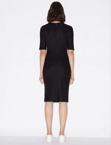 ARMANI EXCHANGE 3/4 SLEEVE SEAMED BODYCON DRESS Midi-Kleid Damen e