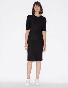 ARMANI EXCHANGE 3/4 SLEEVE SEAMED BODYCON DRESS Midi-Kleid Damen f