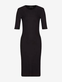 ARMANI EXCHANGE 3/4 SLEEVE SEAMED BODYCON DRESS Midi-Kleid Damen r