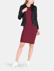 ARMANI EXCHANGE 3/4 SLEEVE SEAMED BODYCON DRESS Midi dress Woman a