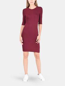 ARMANI EXCHANGE 3/4 SLEEVE SEAMED BODYCON DRESS Midi dress Woman d