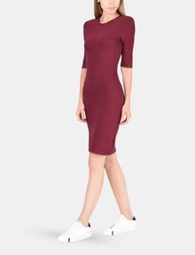 ARMANI EXCHANGE 3/4 SLEEVE SEAMED BODYCON DRESS Midi dress Woman f