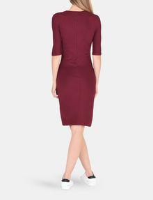 ARMANI EXCHANGE 3/4 SLEEVE SEAMED BODYCON DRESS Midi dress Woman r