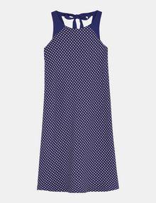 ARMANI EXCHANGE TIE-NECK TANK DRESS Mini dress Woman b