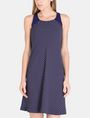 ARMANI EXCHANGE TIE-NECK TANK DRESS Mini dress Woman f