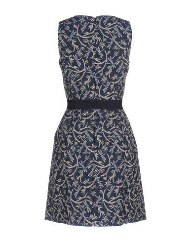 Фото 2 - Женское короткое платье  синего цвета