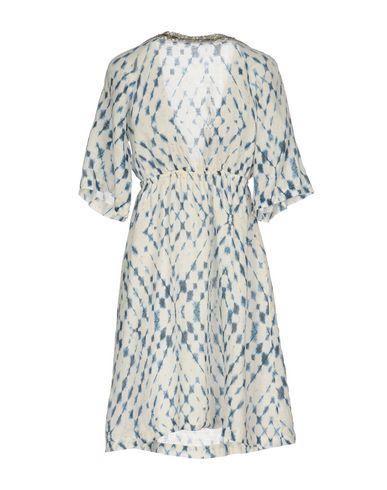 Фото 2 - Женское короткое платье 120% белого цвета