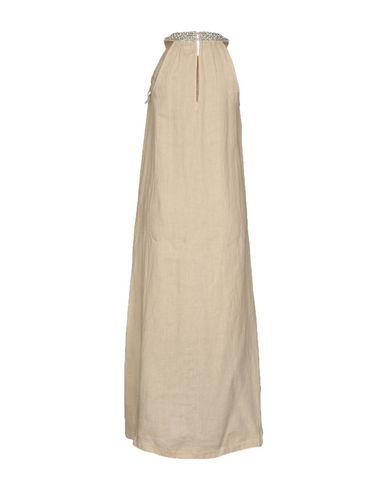 Фото 2 - Женское длинное платье 120% цвет песочный