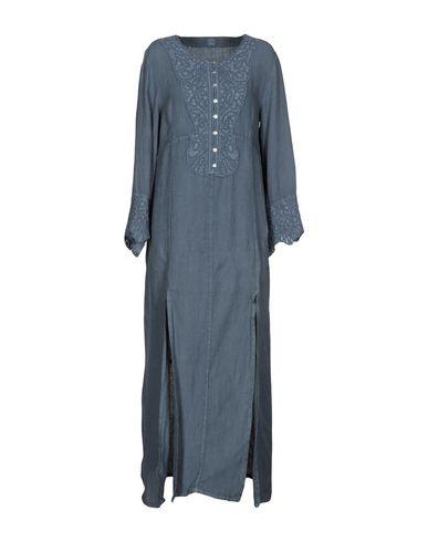 Фото - Женское длинное платье 120% свинцово-серого цвета