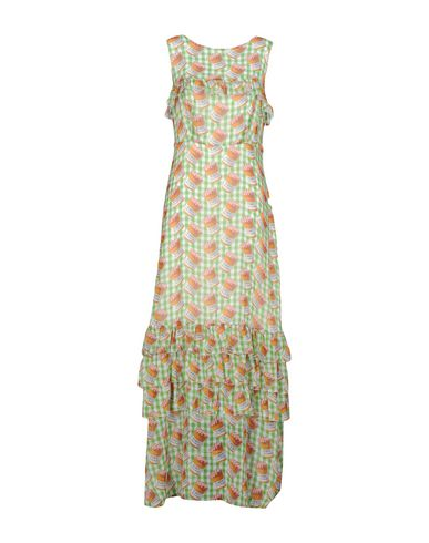 Фото - Женское длинное платье  зеленого цвета