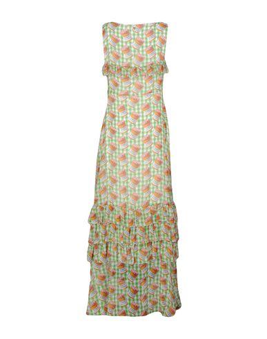 Фото 2 - Женское длинное платье  зеленого цвета