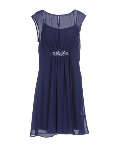 Купить Женское короткое платье  темно-синего цвета