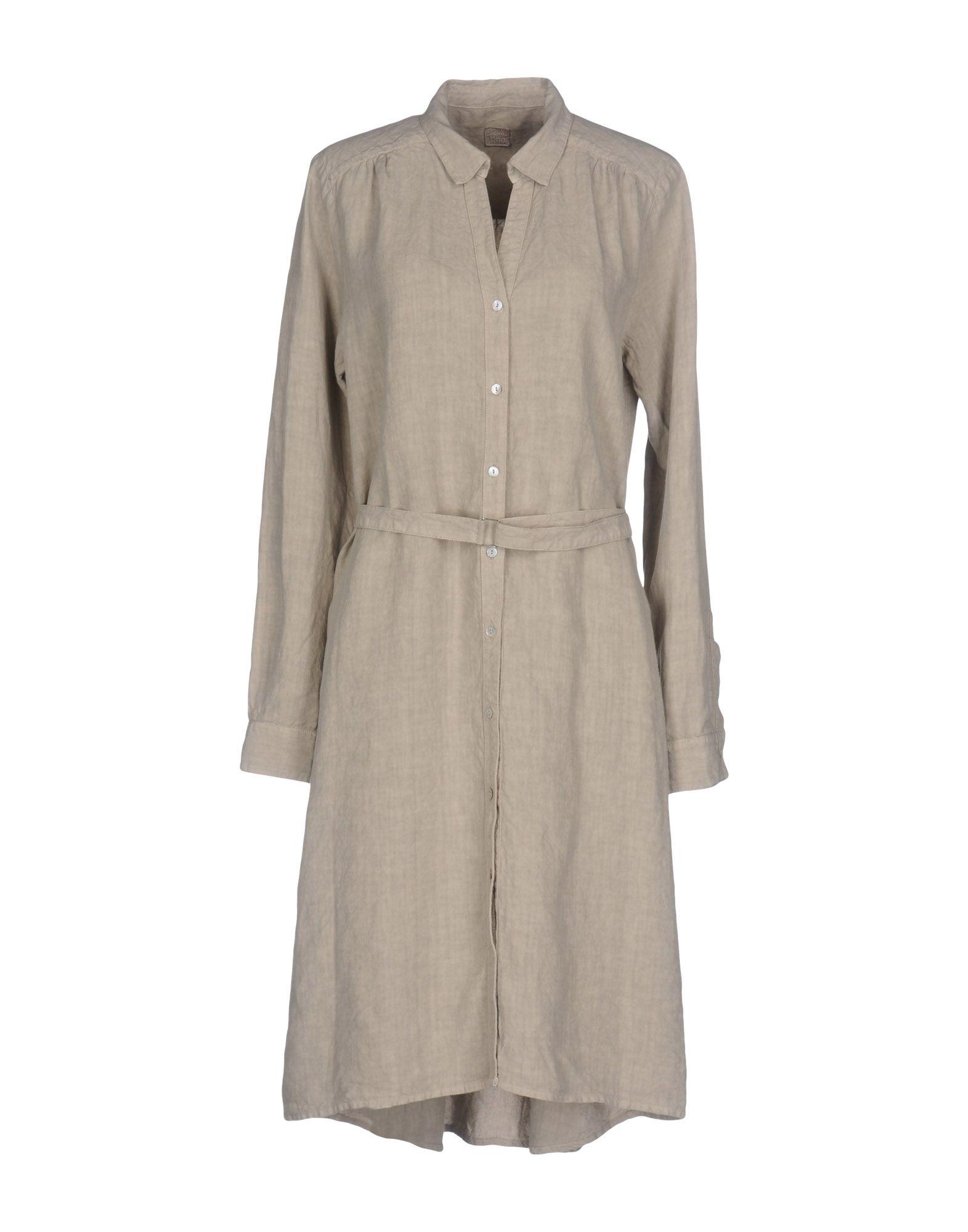 120% LINO Платье до колена рубашки lino russo рубашка индиго