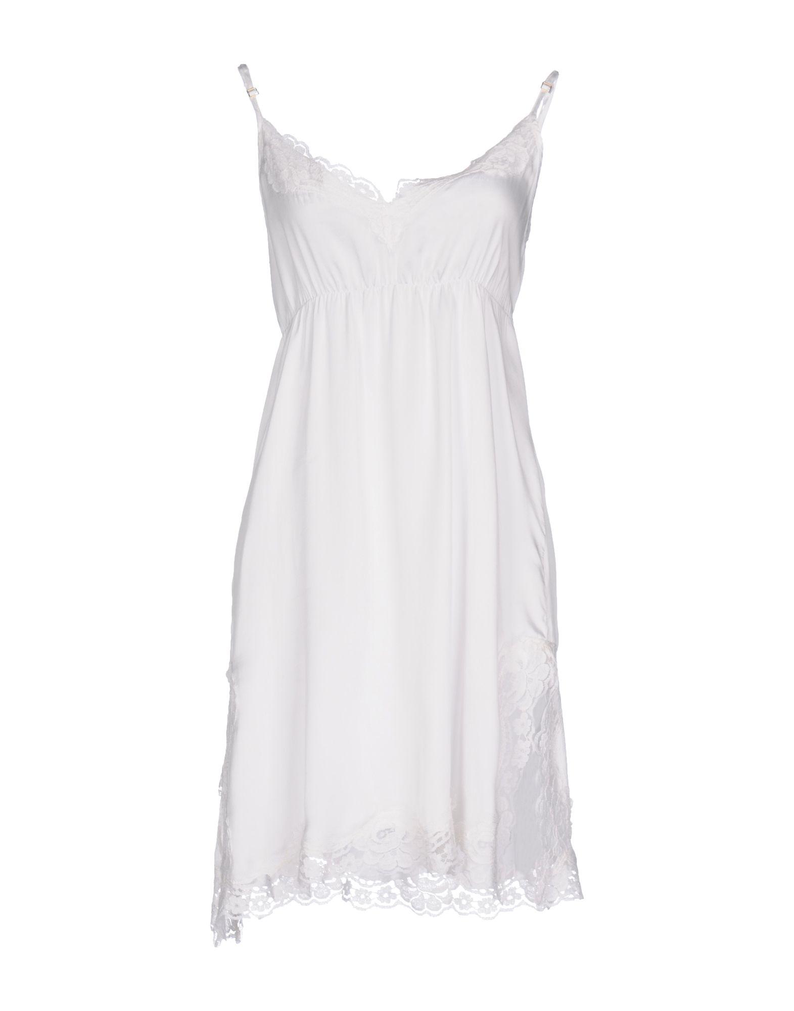 PINK MEMORIES Damen Kurzes Kleid Farbe Weiß Größe 3