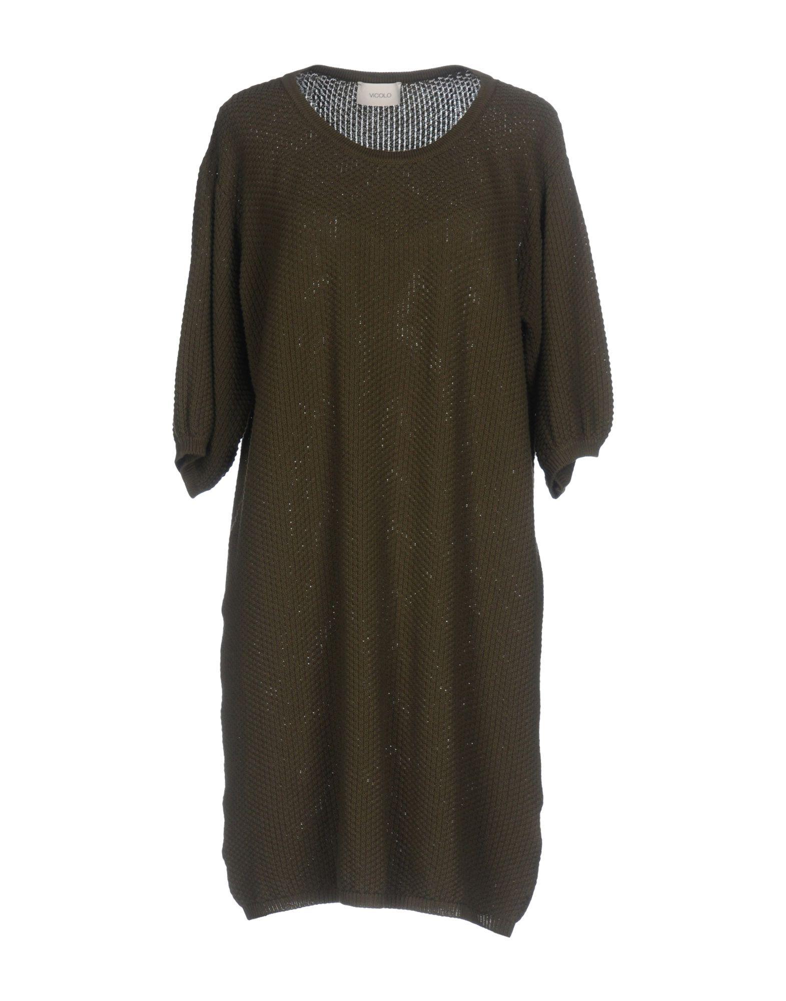 VICOLO Damen Pullover Farbe Militärgrün Größe 1