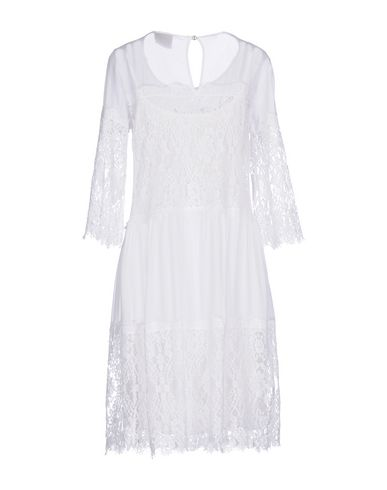 Фото 2 - Платье до колена от PINK MEMORIES белого цвета