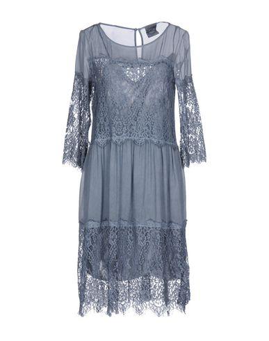 Фото - Платье до колена от PINK MEMORIES грифельно-синего цвета