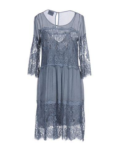 Фото 2 - Платье до колена от PINK MEMORIES грифельно-синего цвета