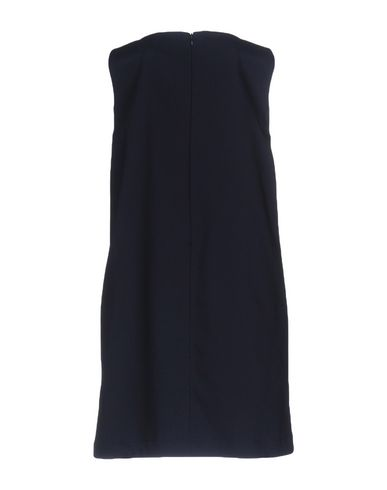 Фото 2 - Женское короткое платье CO TE темно-синего цвета