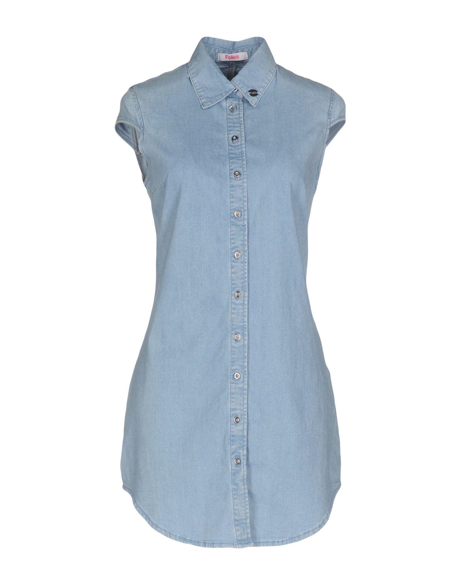 BLUGIRL FOLIES Короткое платье blugirl folies джинсовая рубашка