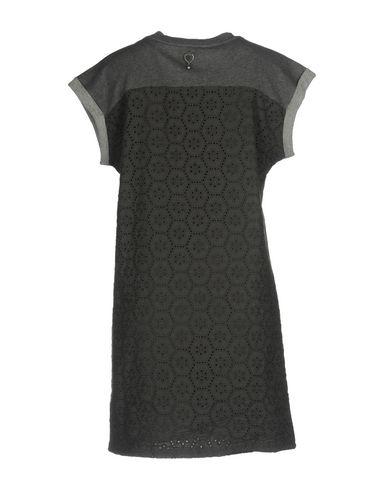 Фото 2 - Женское короткое платье TWIN-SET JEANS серого цвета