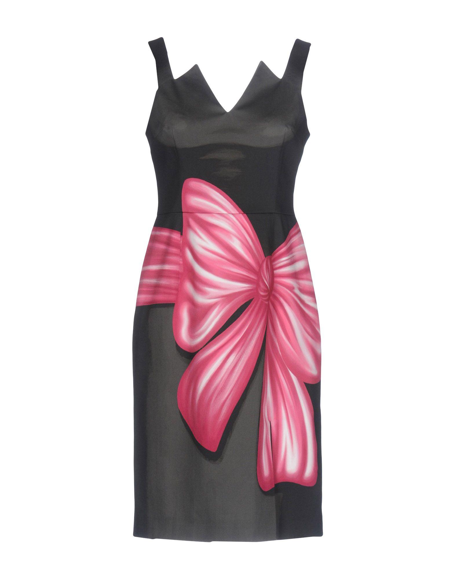 《送料無料》MOSCHINO レディース ミニワンピース&ドレス 鉛色 40 コットン 97% / 指定外繊維 3%