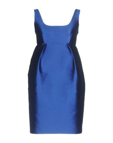 Фото - Женское короткое платье P.A.R.O.S.H. ярко-синего цвета