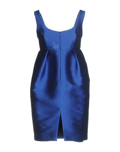Фото 2 - Женское короткое платье P.A.R.O.S.H. ярко-синего цвета