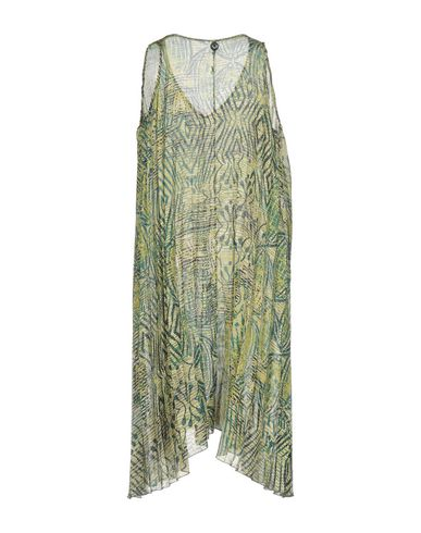 Фото 2 - Платье до колена кислотно-зеленого цвета