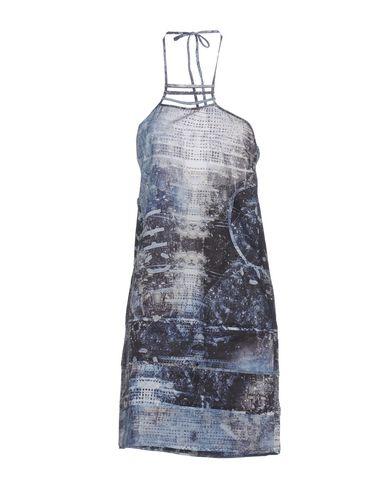 Фото - Женское короткое платье ERMANNO DI ERMANNO SCERVINO грифельно-синего цвета