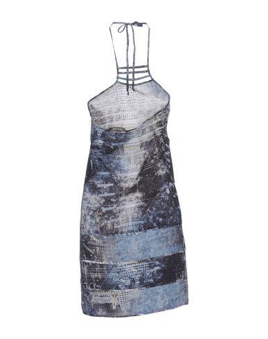 Фото 2 - Женское короткое платье ERMANNO DI ERMANNO SCERVINO грифельно-синего цвета