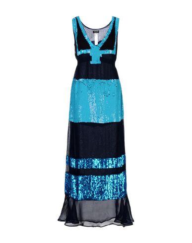Фото - Женское длинное платье TWINSET темно-синего цвета