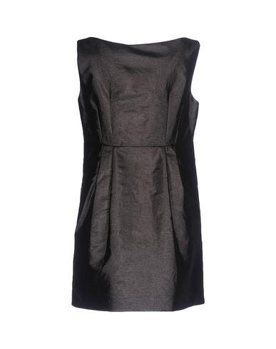Фото 2 - Женское короткое платье  цвет стальной серый