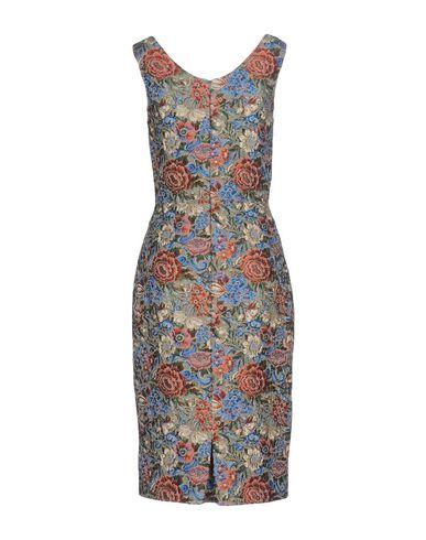 Фото 2 - Платье до колена лазурного цвета