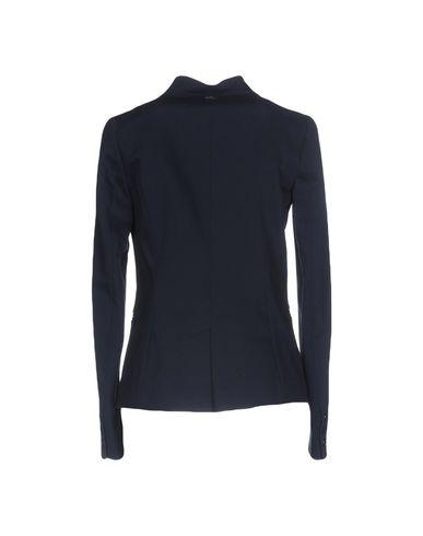 Фото 2 - Женский пиджак  темно-синего цвета