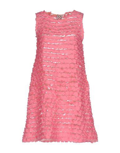 Купить Женское короткое платье DOUUOD розового цвета