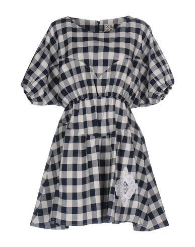 Фото - Женское короткое платье DOUUOD темно-синего цвета