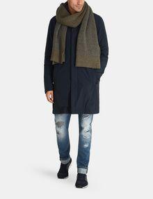 ARMANI EXCHANGE CAMO-LINED SLEEK TRENCH COAT Coat Man a