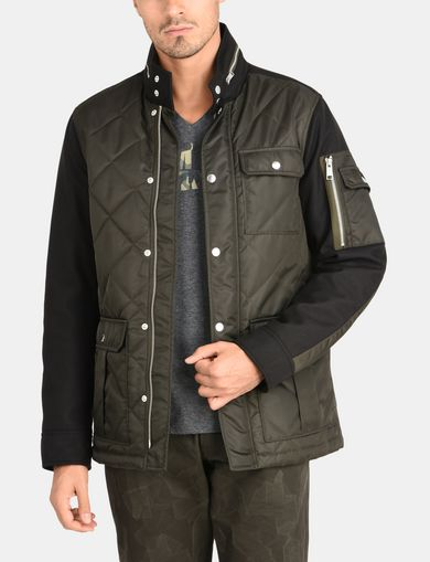 QUILTED HOODED FIELD COAT